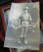 Soldier In Tropical Pith Helmet Black Arm Band N Andriomenos Constantinople Oe