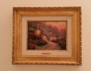 Thomas Kinkade Glory Of The Evening Sold-out Limited Edition S/n 20x17