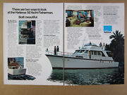 1975 Amf Hatteras 58 Yacht Fisherman Color Photos Vintage Print Ad