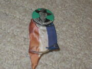 Hopalong Cassidy Pin Back Button With Ribbon Red White And Blue