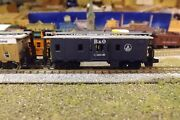 N-scale Custom Painted Baltimore And Ohio Blue Bay 3019 Caboose
