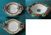 Fitz And Floyd Christmas Holiday Footed Bowl Oval Bowl Tray Jolly Ole Pick 1