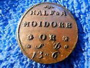 England Very Rare 1746 Coin Weight For Portugese Gold Coins About Uncirculated