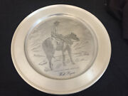 Reed And Barton Will Rogers Silver Pewter Plate Collectible 10 Inch