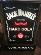 Vintage Jack Daniels Hard Cola Come As You Are Lighted Bar Pub Light New In Box