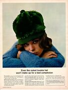 Vintage Beauty Fashion Ad 1966 Makeup Noxema Even The Cutest Kookie Hat Skin Ad