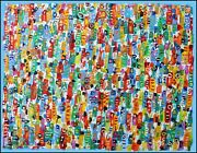 Gentle Crowd Modern Art Oil Painting Canvas Jean Mirre Cotandeacute Artprice