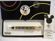 Disney Colibri Mickey Mouse Goldtone Overlay Style Pen New In Box Reduced 3