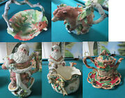 Fitz And Floyd Christmas Thanksgiving Teapot Basket Cookie Dish Bear