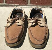 Menand039s Sperry Top-sider Nautical Leather Boat Deck Shoes Size 11 M 0623728