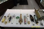 Beer Tapper Handle Lot Of 10 Different Handles With Brass Tapper Free Shipping