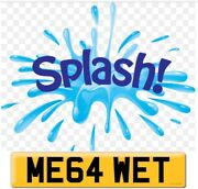 Private Registration Plate Me64 Wet Car Wash Plumber Painter Builder Swimming