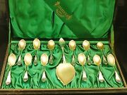 American Antique Sterling Silver Cutlery Set, C.1870 Whiting Manufacturing Co