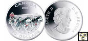 2006 Dog Sled Team Proof 30 Silver Colorized Coin 11961 Ooak