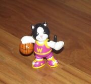 Ganz Mini Webkinz Cat With Basketball 2 Pvc Toy Action Figure Used