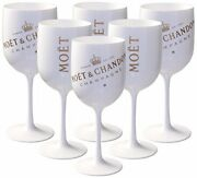 Moet Chandon Ice Imperial Glasses White Acrylic Champagne Goblet Set X 30
