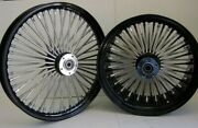 Dna Noir Mammoth 21x3.5 18x5.5 Fat 52 Rayons Roues And Pneus Os Harley
