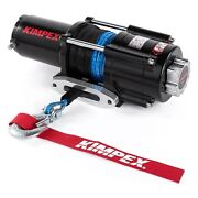 Kimpex Electric Winch 4500 Lb Synthetic Wire Rope 42and039 12v Towing W/accessories