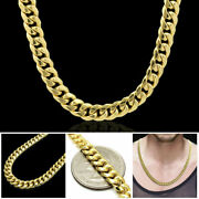 Mens Womens 10k Real Yellow Gold 6mm Miami Cuban Link Chain Necklace 20-30
