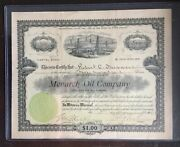 The Monarch Oil Co. 1905 1 Document Of 500 Shares Shares 1 Each