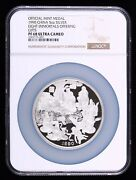 1990 China 5oz Silver Coin Medal Eight Immortals Offering Gifts,ngc Pf68uc,rare