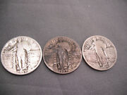 3-1927 Quaters Standing Liberty Us Coins Free Shipping