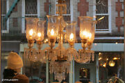 Hand Etched Clear Chandelier