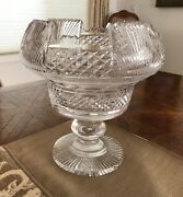 1975 Waterford Crystal Footed Bowl 10 Master Cutter Collection