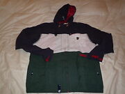 L-r-g Lifted Research Group Lrg Jericho Zip Up Hooded Jacket Navy Sz Xl
