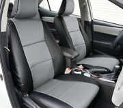 Toyota Rav4 Le 2013-2018 Black/grey S.leather Custom Fit Front Seat Covers