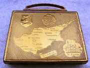 Antique Vintage Miniature Purse - Case For Make Up With Cyprus