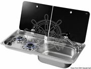 Can Cooktop With Tinted Tempered Glass Lid 2 Burners Dx Sink 765x355 Mm Right