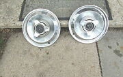 1965 Dodge Coronet 14 Hubcaps Hub Cap Spinner Wheel Cover Very Good Condition