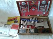 1948 Lionel Construction Kit 454 With Oak Case Complete With Instruction Books