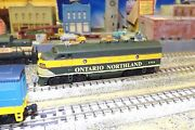 N-scale Custom Painted Ontario Northland F-unit  1519 Dcc Ready