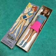 60and039s Vintage Barbie Doll Dress With Box Very Rare Collectible Midge F/s Japan