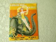 1955 Ringling Bros Barnum And Bailey Circus Magazine Program Old Photos Stories Ad