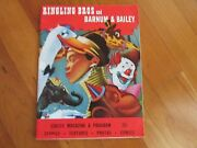 1951 Ringling Bros Barnum And Bailey Circus Magazine Program Photos Stories Old Ad