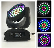 2xnew 36x18w Led Zoom Moving Head Light Rgbwauv 6in1 Color Section Control Dmx