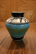 Original Ute Mountain Tribe Pottery Vase Signed By L. Watts