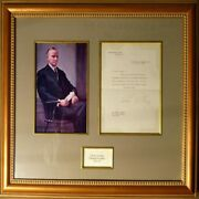Calvin Coolidge Autographed Typed Letter In Fine Condition Framed With Coa