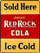 Red Rock Cola Sold Here 9 X 12 Sign