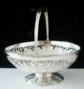 Antique Sterling Silver Military Swing Handled Basket, Thomas Pitts 1791
