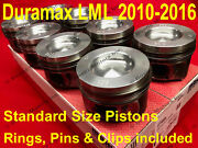 Duramax Pistons 2010-2016 Lml Standard Size Set W/ Rings Pins And Clips Chevy Gmc