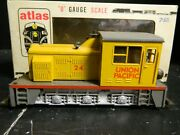 Vintage Atlas Wtd Industrial Switcher Union Pacific 6124 In Orig. Box Excellent