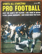 Sports All Stars 1961 Pro Football With Kyle Rote - Giants Cover, Ex Condition
