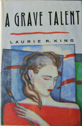 Laurie R Mystery King / A Grave Talent Inscribed Edgar Award Winner Signed 1st