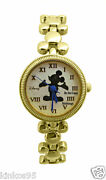 New Ladies Disney Mickey Mouse Gold Icons Silhouette Watch Htf