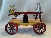 Rare 10 Long Tin Lithograph Daisy See-saw Teeter-totter Pull Toy Very Good Cond