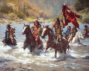 Howard Terpning - Capturing The Chiefand039s Coat - Signed Artist Proof Canvas - Mint